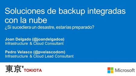 Contoso Private Cloud (On-premises) Microsoft Azure Encrypted data sent to Microsoft Azure Windows Server instances with the Microsoft Azure Backup.