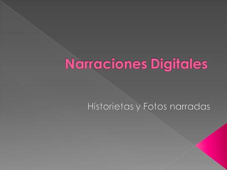 Narraciones Digitales