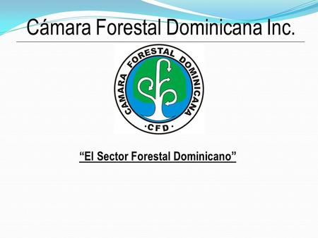 "Cámara Forestal Dominicana Inc. ""El Sector Forestal Dominicano"""