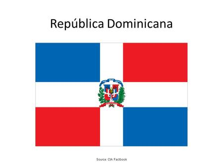 República Dominicana Source: CIA Factbook.