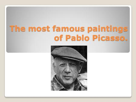 The most famous paintings of Pablo Picasso.. The most famous and recognized painting of Picasso is the Guernica, which reflects the notorious Italian.
