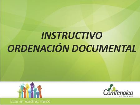 ORDENACIÓN DOCUMENTAL