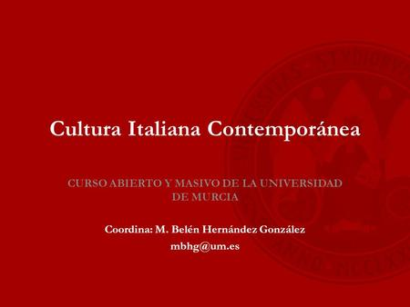 Cultura Italiana Contemporánea