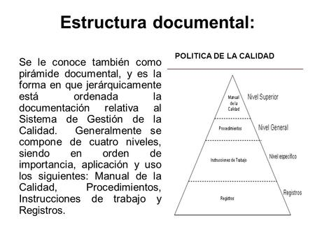 Estructura documental:
