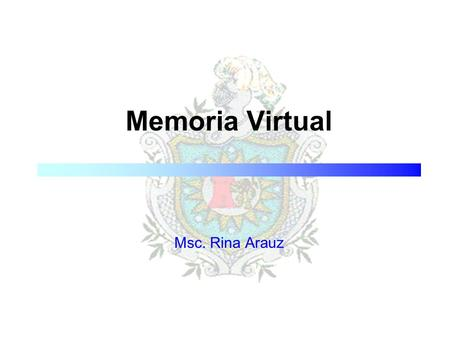 Memoria Virtual Msc. Rina Arauz.