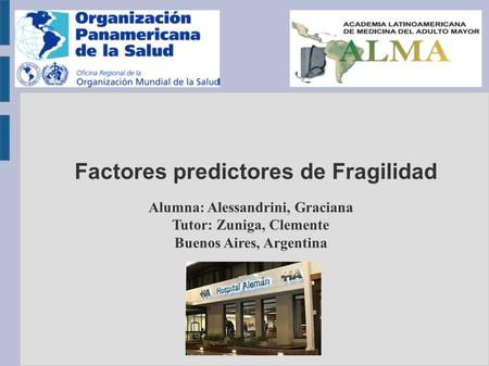 Factores predictores de Fragilidad