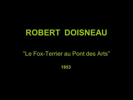 """Le Fox-Terrier au Pont des Arts"""
