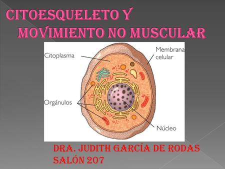 Citoesqueleto y movimiento no muscular