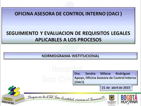 Caracterizaci n proceso administraci n de sistemas de for Oficina nacional de evaluacion