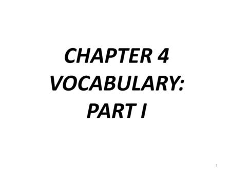 CHAPTER 4 VOCABULARY: PART I 1. LA EQUITACIÓN 2 1.
