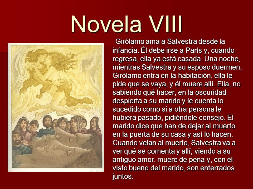 Novela IX Los caballeros Guardastango y Rosellón son amigos.