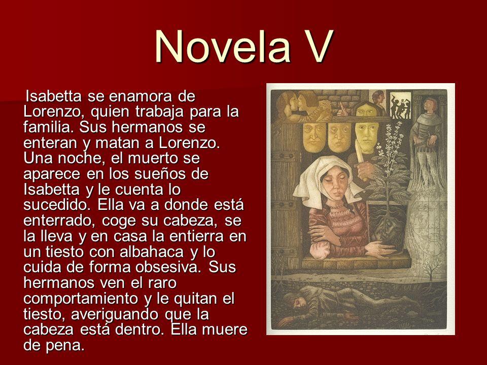 Novela VI Andreuola y Gabriotto son amantes en secreto.