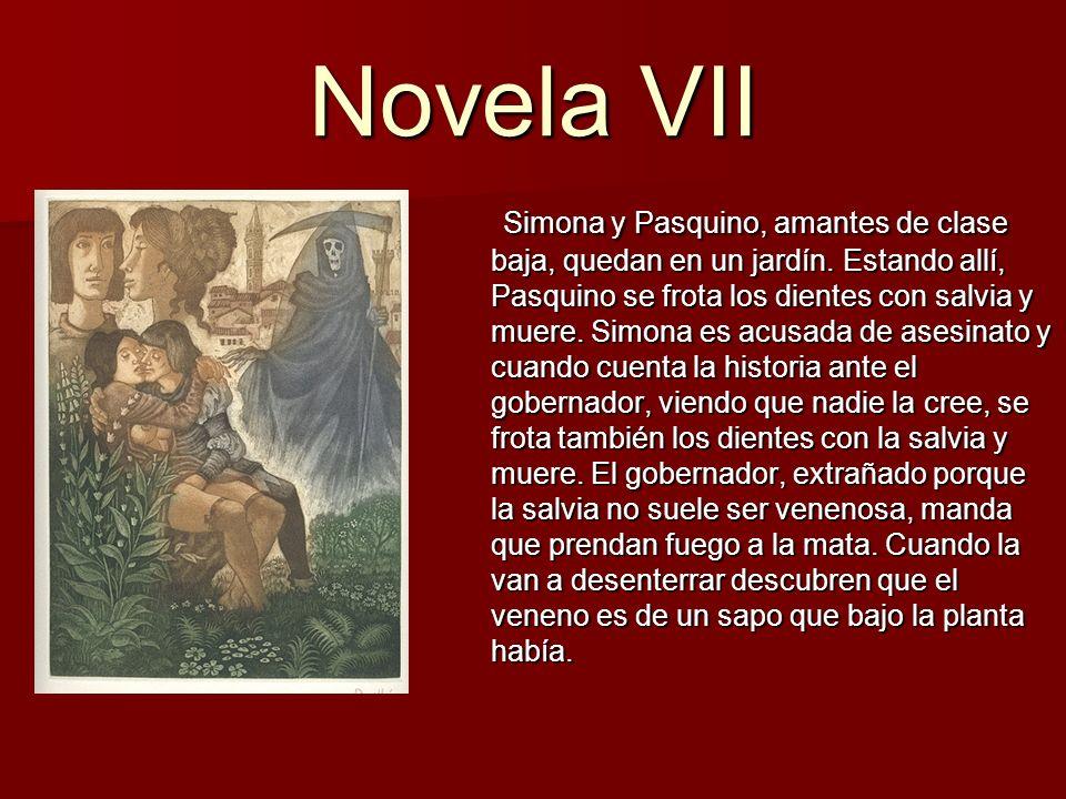 Novela VIII Girólamo ama a Salvestra desde la infancia.