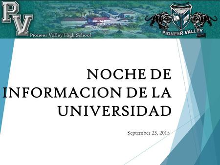 NOCHE DE INFORMACION DE LA UNIVERSIDAD September 23, 2015.