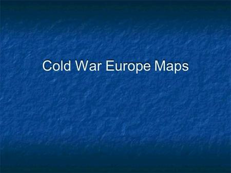 Cold War Europe Maps. German Occupation Zones Marshall Plan Aid.
