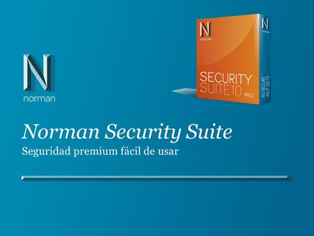 Norman Security Suite Seguridad premium fácil de usar.