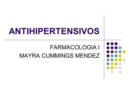 FARMACOLOGIA I MAYRA CUMMINGS MENDEZ