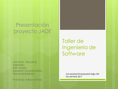 Taller de Ingeniería de Software
