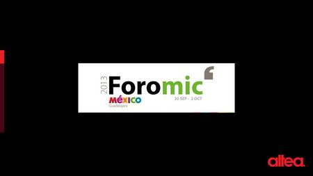 FOROMIC Instituto Cultural Cabañas – Sede del evento.