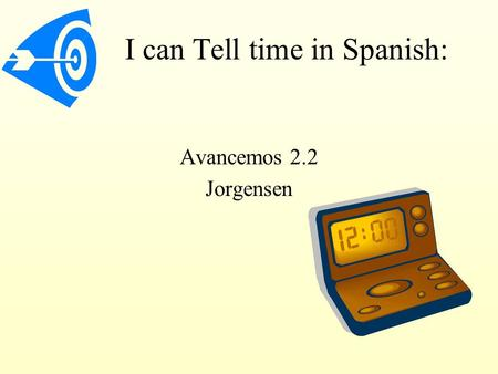 how to say what time in spanish