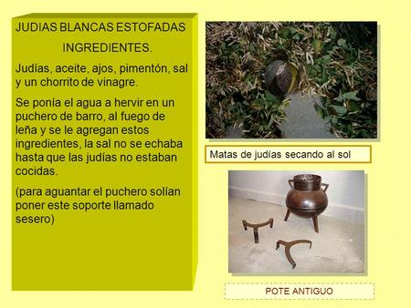 JUDIAS BLANCAS ESTOFADAS INGREDIENTES.
