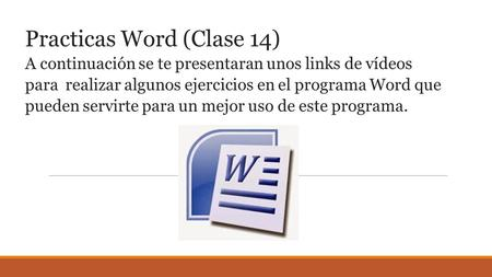 Practicas Word (Clase 14)