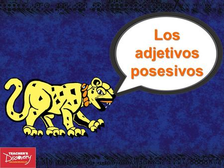Los adjetivos posesivos En inglés: You use possessive adjectives to show possession or ownership. Possessive adjectives must agree with the noun it modifies.