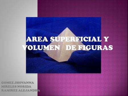 AREA SUPERFICIAL Y VOLUMEN DE FIGURAS
