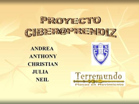 ANDREA ANDREA ANTHONY ANTHONY CHRISTIAN CHRISTIANJULIA NEIL NEIL.