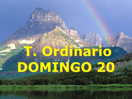 T. Ordinario DOMINGO 20.