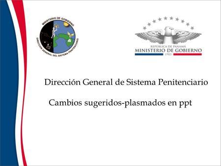 Actualizacion penitenciaria y carcelaria boletin no 1 for Direccion de ministerio de interior y justicia