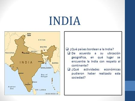 INDIA ¿Qué países bordean a la India?