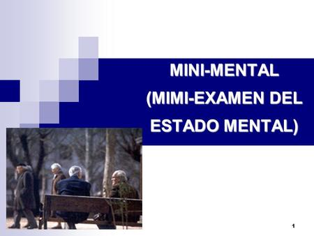 MINI-MENTAL (MIMI-EXAMEN DEL ESTADO MENTAL)