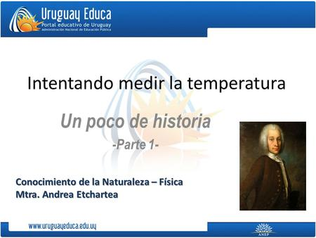 Intentando medir la temperatura