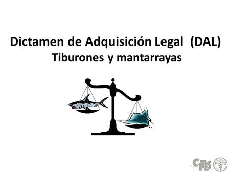 Dictamen de Adquisición Legal (DAL) Tiburones y mantarrayas.