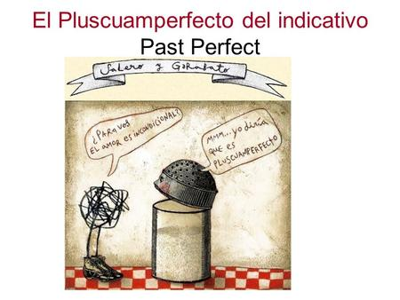 El Pluscuamperfecto del indicativo Past Perfect