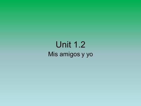 Mis unit 1