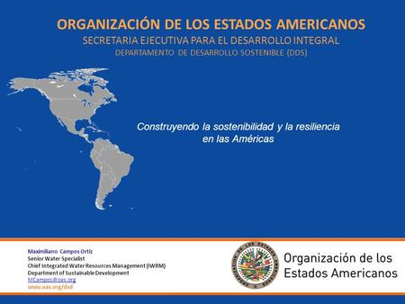 The Organization of American States (OAS) is the oldest public international organization in the world. OAS evolved from the Commercial Bureau of American.