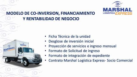 MODELO DE CO-INVERSION, FINANCIAMIENTO Y RENTABILIDAD DE NEGOCIO