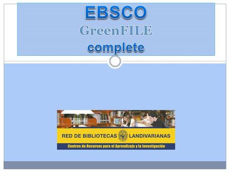 EBSCO GreenFILE complete
