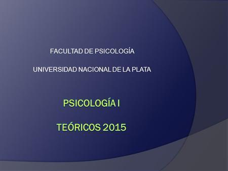 universidad nacional plata psicologia: