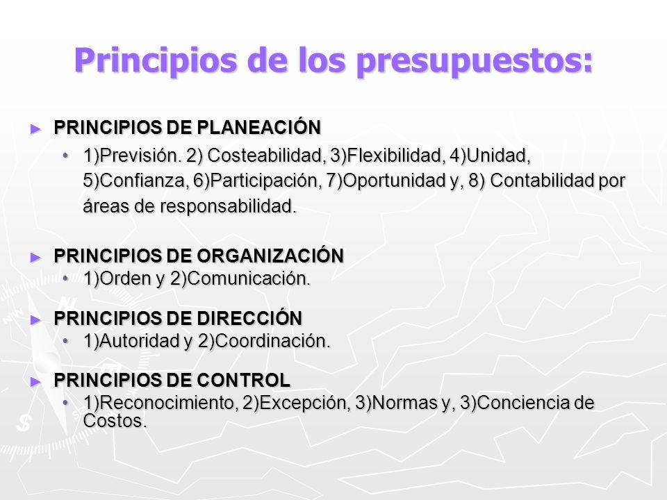 Elementos de los Presupuestos: Integrador:Indica que toma en cuenta todas las áreas y actividades de la empresa.
