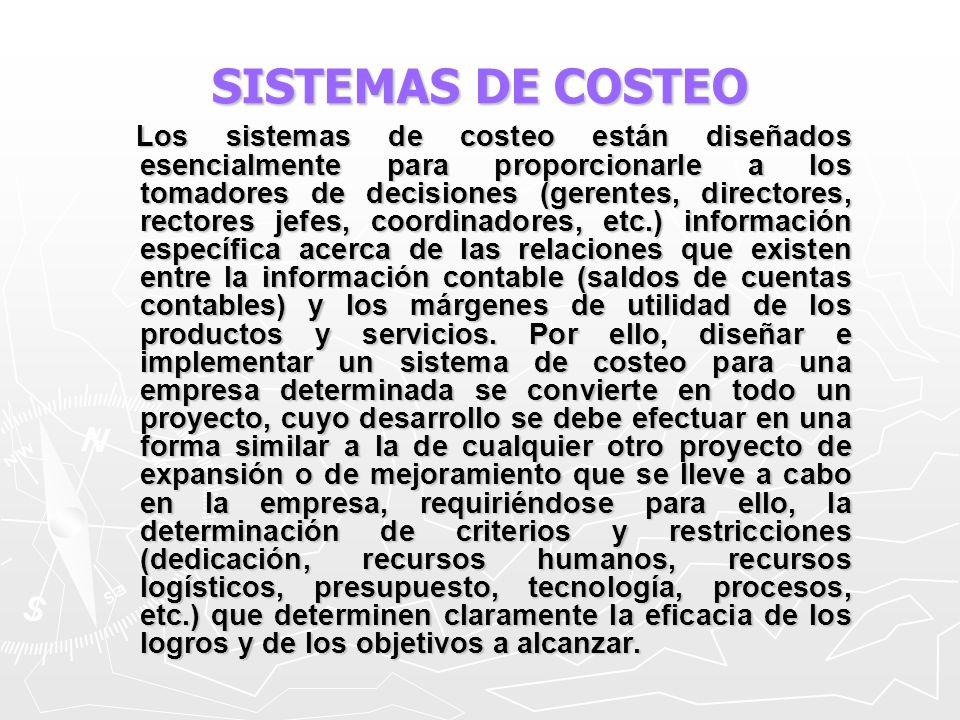 EL ABC DE LOS COSTOS Las actividades son todo el conjunto de labores y tareas elementales cuya realización determina los productos finales de la producción.