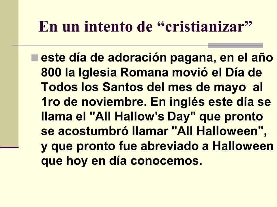 Los satanistas establecieron entonces la noche anterior, el 31 de octubre, como la noche de Todos los Demonios , para que estos penetraran la noche anterior, consagrándola mediante hechizos, maldiciones y horrores