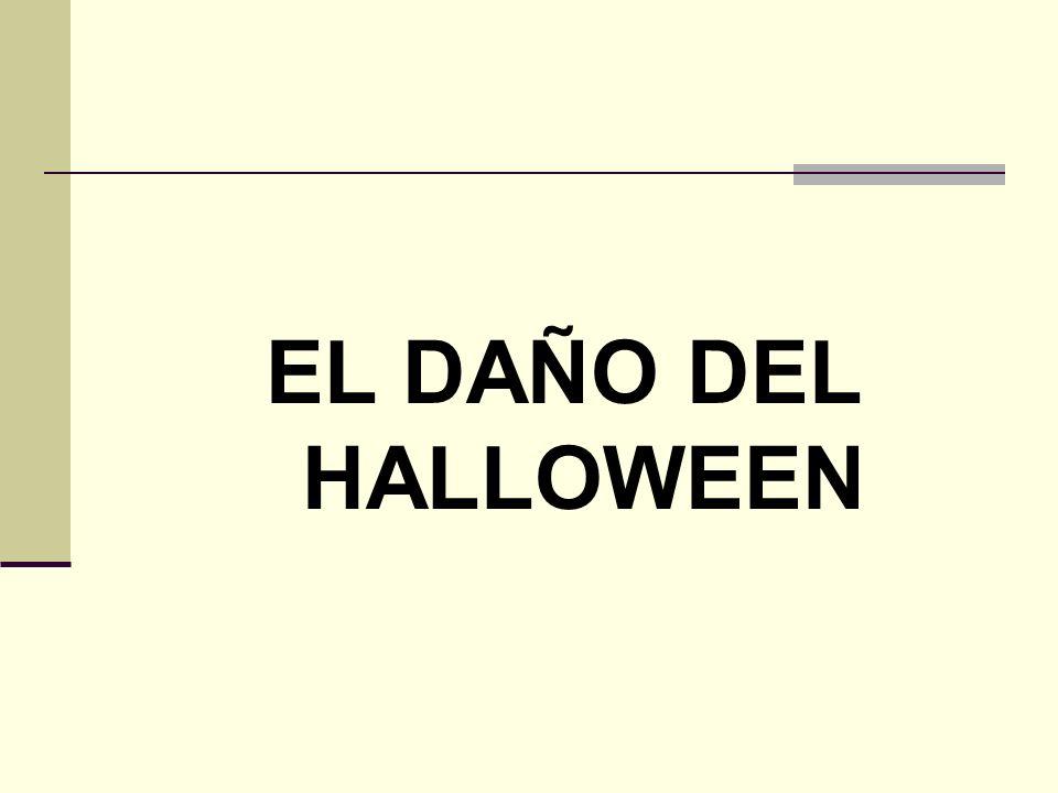 Halloween enfatiza la violencia y la muerte.