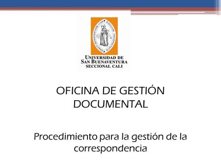 OFICINA DE GESTIÓN DOCUMENTAL