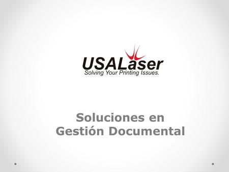 Soluciones en Gestión Documental.