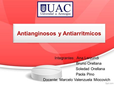 Antianginosos y Antiarritmicos