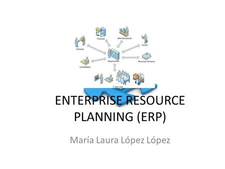 ENTERPRISE RESOURCE PLANNING (ERP) María Laura López López.