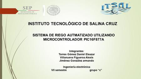 INSTITUTO TECNOLÓGICO DE SALINA CRUZ